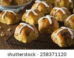 homemade hot cross buns ready... | Shutterstock . vector #258371120