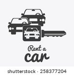 rent a car design over white...