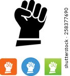 clenched fist icon | Shutterstock .eps vector #258377690