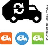 garbage truck icon   Shutterstock .eps vector #258379319