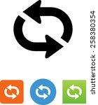 repeat arrow icon | Shutterstock .eps vector #258380354