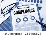 compliance concept with... | Shutterstock . vector #258406829