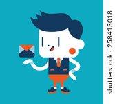 character illustration design.... | Shutterstock .eps vector #258413018