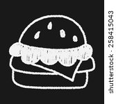hamburger doodle drawing | Shutterstock .eps vector #258415043