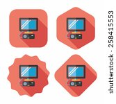 tv game flat icon with long...   Shutterstock .eps vector #258415553