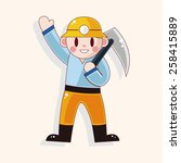 worker theme elements  | Shutterstock .eps vector #258415889