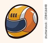 f1 racing theme elements | Shutterstock .eps vector #258416648