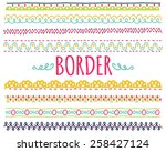 set of colorful hand drawn... | Shutterstock . vector #258427124