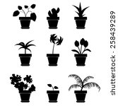 Vector Home Plants Clip Art