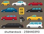 vector set of different types... | Shutterstock .eps vector #258440393