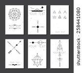 set of vector minimalism... | Shutterstock .eps vector #258441080