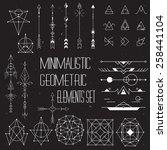 big set of vector minimalism... | Shutterstock .eps vector #258441104