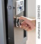 Open Door Of Safe Box With...