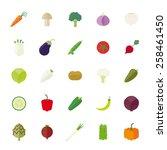 vegetables flat design vector... | Shutterstock .eps vector #258461450