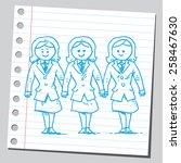 businesswomen management team   Shutterstock .eps vector #258467630