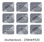 set weather icon with long... | Shutterstock .eps vector #258469520