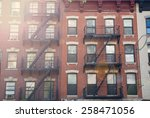 View Of A Red Building In New...