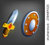 cartoon sword and shield....