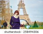 beautiful young tourist in... | Shutterstock . vector #258494306