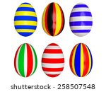easter eggs painted in the... | Shutterstock . vector #258507548