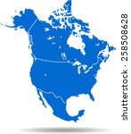 north america map | Shutterstock .eps vector #258508628