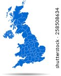 united kingdom map   Shutterstock .eps vector #258508634