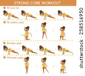strong core workout | Shutterstock .eps vector #258516950