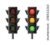 traffic lights isolated on... | Shutterstock .eps vector #258522263