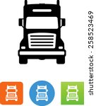 18 wheeler semi truck icon | Shutterstock .eps vector #258523469