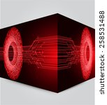 red color light abstract... | Shutterstock .eps vector #258531488