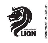 Animal Lion Head   Vector Logo...