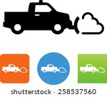 Pickup Truck Plowing Snow Icon