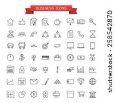 business icons | Shutterstock .eps vector #258542870