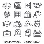 law line icons | Shutterstock .eps vector #258548369