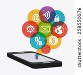 marketing design over white...   Shutterstock .eps vector #258550076