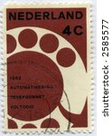Vintage World Postage Stamp Ephemera Netherlands (editorial) - stock photo