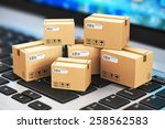 shipping  delivery and... | Shutterstock . vector #258562583