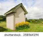 Side Of A Garden Shed With...