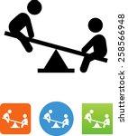 teeter totter   playground  ... | Shutterstock .eps vector #258566948
