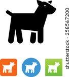 puppy dog icon | Shutterstock .eps vector #258567200