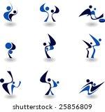 set of logos  sport