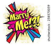 "pop art comics icon ""marry me""... 