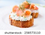 Canape With Smoked Salmon And...