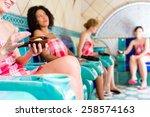 women in hammam vapour bath... | Shutterstock . vector #258574163