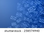 mail background  | Shutterstock . vector #258574940