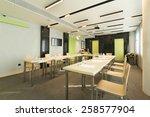 tables prepared for seminar | Shutterstock . vector #258577904