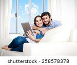 young happy attractive hispanic ... | Shutterstock . vector #258578378