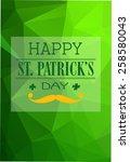 cool typographic design for st. ... | Shutterstock .eps vector #258580043