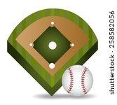 sport design over white... | Shutterstock .eps vector #258582056