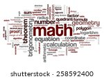 word cloud with words related... | Shutterstock .eps vector #258592400